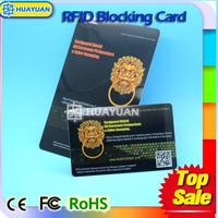 Against Crowd Hacking RFID Credits Payment card signal card protectors