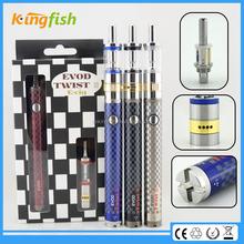 New variable voltage ecig airflow control evod twist 3 m16 disposable wax vaporizer e cigarette for china wholesale