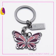 Mini enamel butterfly key chain Brand publicity logo custom key chain fashion key pendant key finder