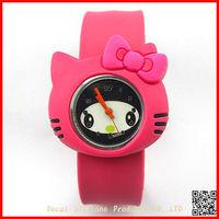 wholesale cheap japan cartoon hello kitty silicone slap watch for kids