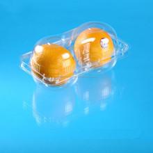 2 compartment apple and orange fruit plastic container