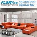 Sofás de la esquina de cuero muebles italianos con LED F1362