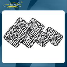 Heavy Duty Universal Fit Full Set Zebras Car Mats , Carpet Floor Mat