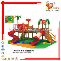wooden playhouse with slide TX3070B