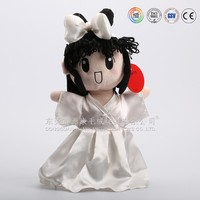 Plush kid toys fashion wedding girl doll