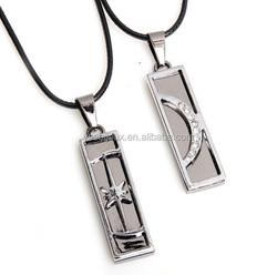 alibaba bulk cheap stainless steel pendant couple necklace jewellery