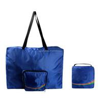 Custom logo fashion cheap nylon foldable shopping tote bag