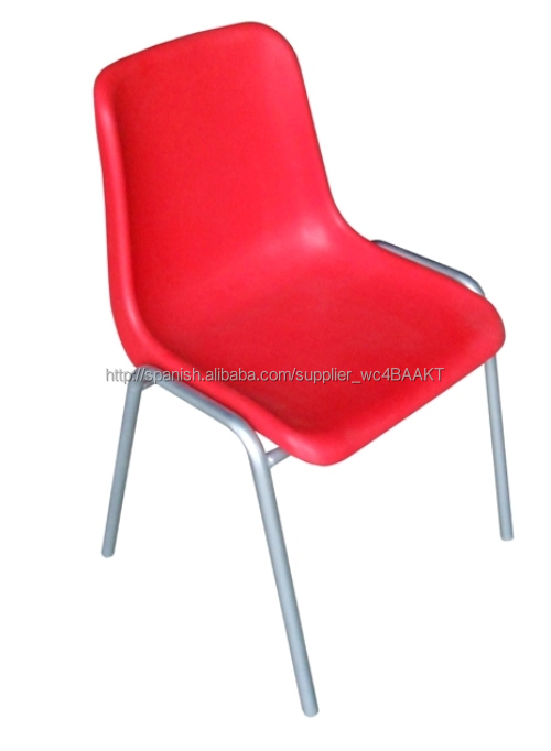 high quality plastic office chair restaurant chair with chromed tube