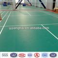 Pvc sport plancher pour le badminton cour/élasticité de plancher