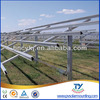 Ground solar panel mounting system with single column