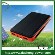 2015 hotly selling 10000mah waterproof mobile phone solar charger for Iphone Samsung Cell phone