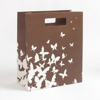 glossy lamination cosmetic paper shopping bags