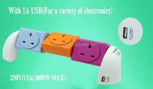 3 pin british eletric socket, usb socket british USB socket with USB charging ports for UK 3 pin plug using