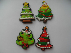 rubber Christmas tree fridge magnet for Christmas home decoration
