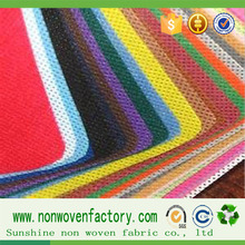 Make to order pp spunbond fabric non-woven from china,colorful stable interfacing fabric