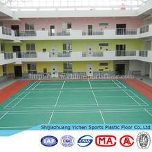 vinyl PVC floor carpet indoor standard size of badminton court carpet
