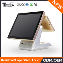 15 inch Brand new dual screen pos systems restaurant POS terminals in low price