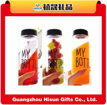 China wholesale customized healthy glass water bottles/glass drinking water Bottles,plastic sport bottle