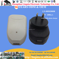 5V 2.1A AU plug usb charger for mobile phone, power bank, tablet
