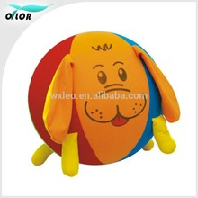 PVC Toy/Inflatable/Hopper Ball with Animal-like Fabric Cover, Measures 18-inches