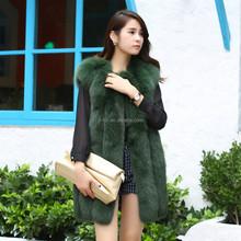 2014 Fahion Fur, Real Fox Fur Vest,Fur Gilet with Top Quality Finland Fox Fur