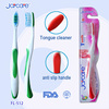 High quality personal massager toothbrush, tongue cleaner toothbrush