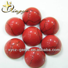 China Supplier Round Cabochon Cut Red Turquoise