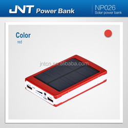 Solar Power Bank 18650l ion cell China Factory 10000mah Portable Charger ,promotional gift
