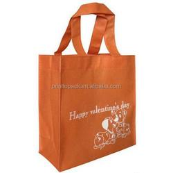 foldable non woven bag with logo printing
