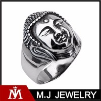 BUDDHA Stainless Steel Buddhist Ring for Men