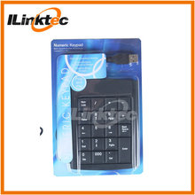 Portable Wired USB/PS2 numeric keyboard specially for notebook, laptop