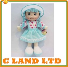 Factory custom plush stuffed girl baby doll toy