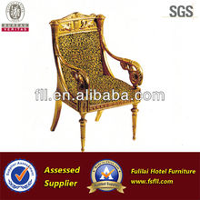 Antique wooden dining chairs for 5 star hotel furniture