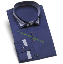 100% Cotton Satin Finish New Design Man Shirt
