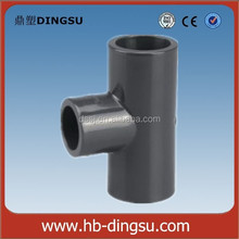 63x32mm Grey UPVC/PVC Pipe Fitting 3 Ways Reducing Tee connector