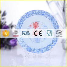Modern professional restaurant melamine glass plates dishes
