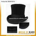 lana de fieltro negro sombrero de copa de la fábrica