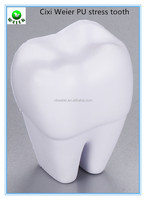6.4x5x8cm promotional gift PU foam sharp tooth/personalized PU material sharp tooth shape/kids toys PU anti stress sharp tooth