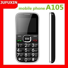 A105 2.0inch GSM 900/1800/Dual sim card dual standby/FM/GPRS /Bluetooth/ multi language big keyboard mobile phone for elderly
