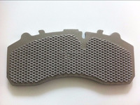 Truck Brake Pads Wire Mesh Steel Back Plates