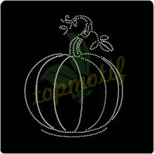Unique Halloween Transfer Rhinestone Designs Pumpkin Hot-Fix Transfer Motif For Clothing