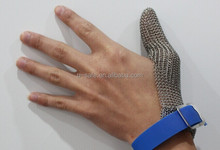 NEW STYLE:One finger protect thumb butcher stainless steel glove