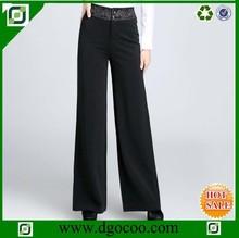 Nueva moda mujer oficina pantalones emboridery formal mujer pantalones