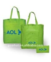 Folding textile shopping bag