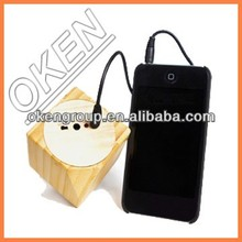 2015 Newst Green nature material and most nature voice bamboo speaker