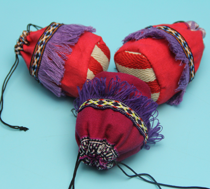 wholesale custome made small cute round bottom jewellery drawstring organic cotton bag with nice applique