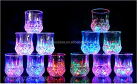 water Active LED Glow Glass , Acrylic light up LED Flashing Shot Glass,led flashing cup