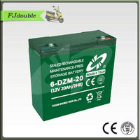 6-DZM-12 12V20AH Batteries to electric bicycle battery