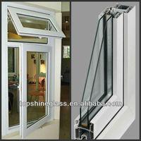 Good noise insulation sliding glass reception window