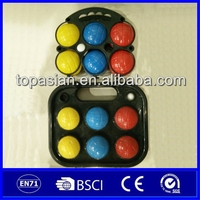 Colorful outdoor plastic bocce petanque boules game